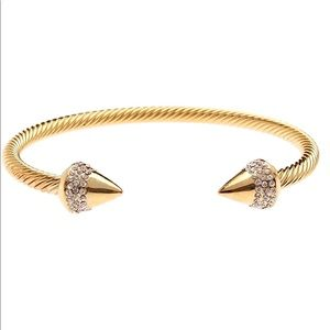 18k gold plated pavé spike bracelet
